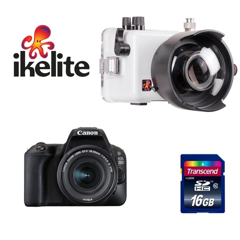 Photo diving pack Ikelite+CANON EOS 200D+18-55mm STM