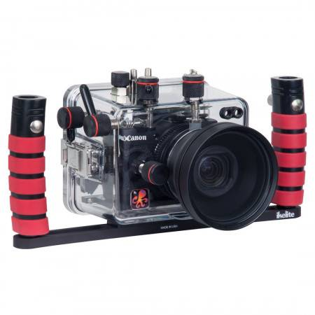 Camera tray with dual release handles Ikelite