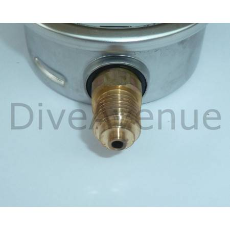 Manomètre vertical 0-600bars+PSI INOX diamètre 63mm