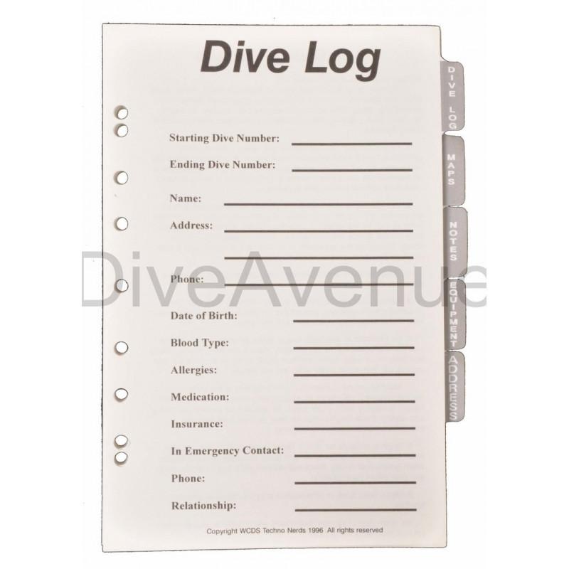 Pages pour carnet de plongée