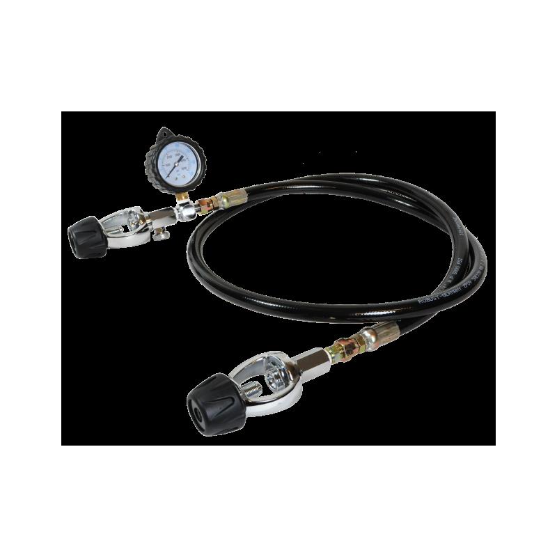 Lyre de transfert ETRIER-ETRIER avec manomètre 180cm
