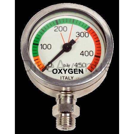 Manomètre OXYGENE 0-450bars...