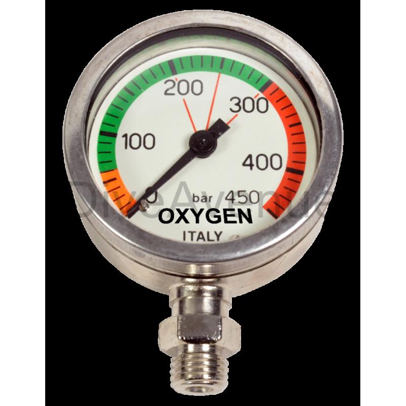 0-450bars underwater OXYGEN spare pressure gauge