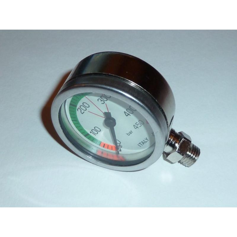 OXYGEN pressure gauge 0-450bars submersible diameter 52mm