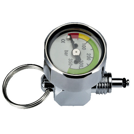 Mini pressure gauge 0-350bars on HP hose