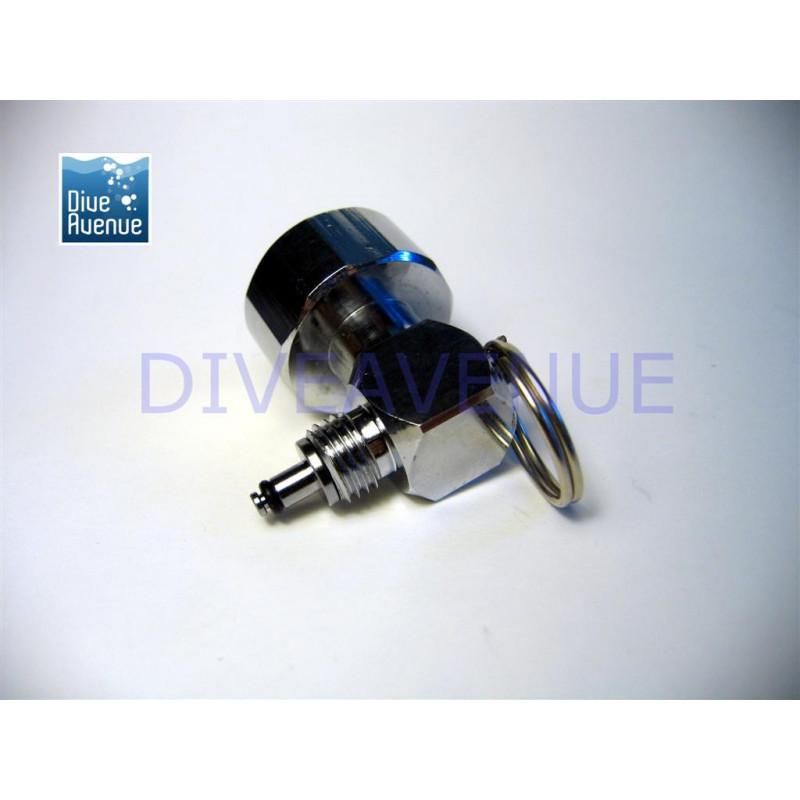 Mini pressure gauge 0-350bars on HP hose