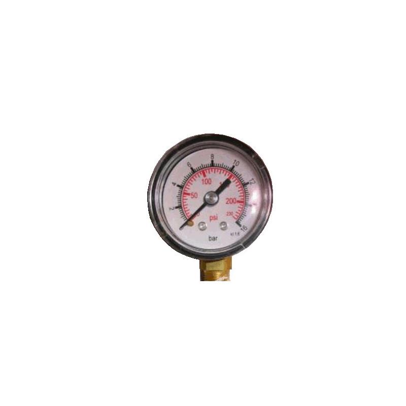 Pressure gauge 0-16BAR - 0-230PSI