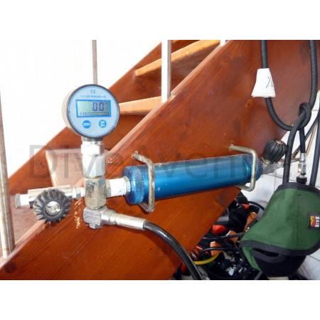 Digital pressure gauge 0-400bars OXYGEN compatible