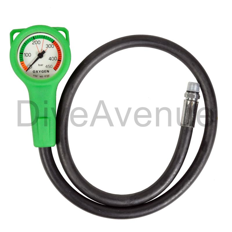 Oxygen Manometer 52mm slim 450 BAR - 80cm hose