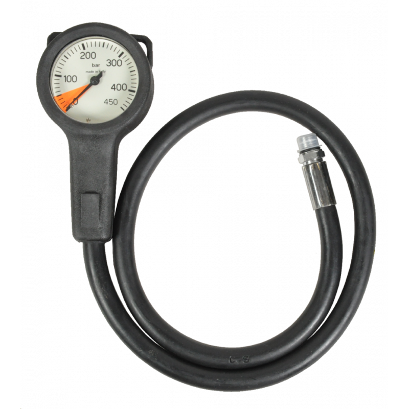 Scuba air manometer 63mm 450 BAR - 80cm hose