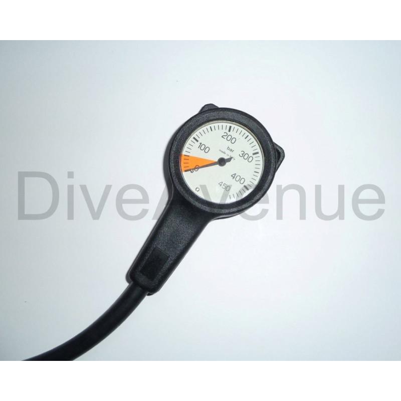 Scuba air manometer 63mm 450 BAR - 80cm hose