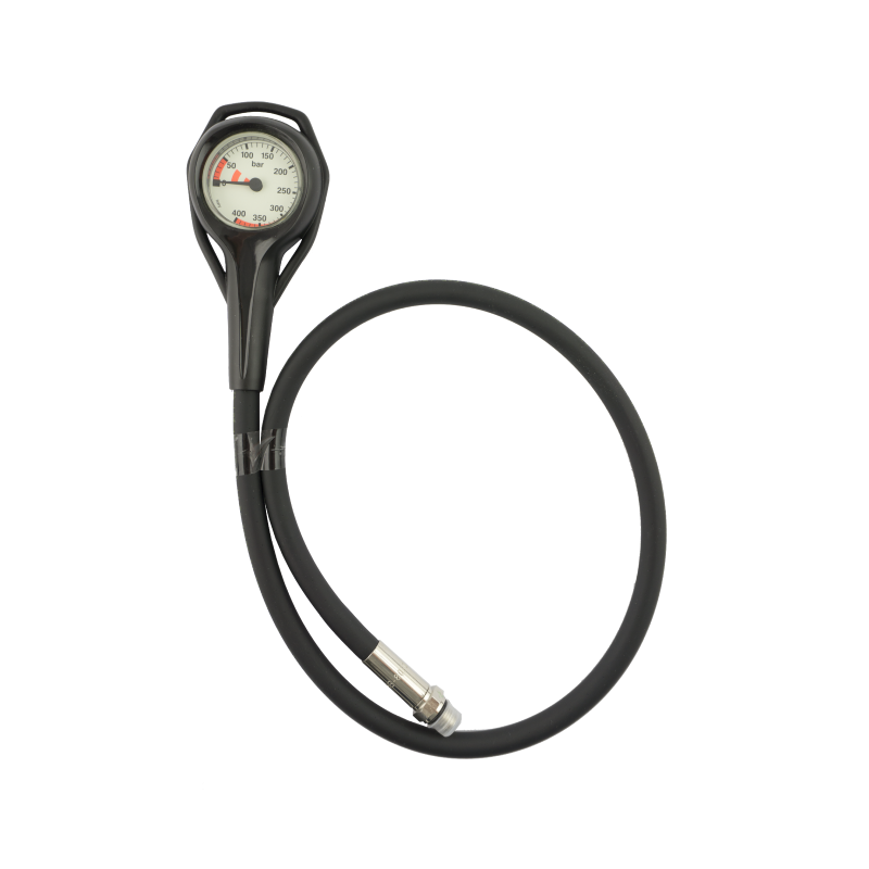 Manomètre air 0-400bars diamètre 45mm flexible 80cm