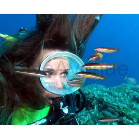 Masque de plongée pour modèle photo