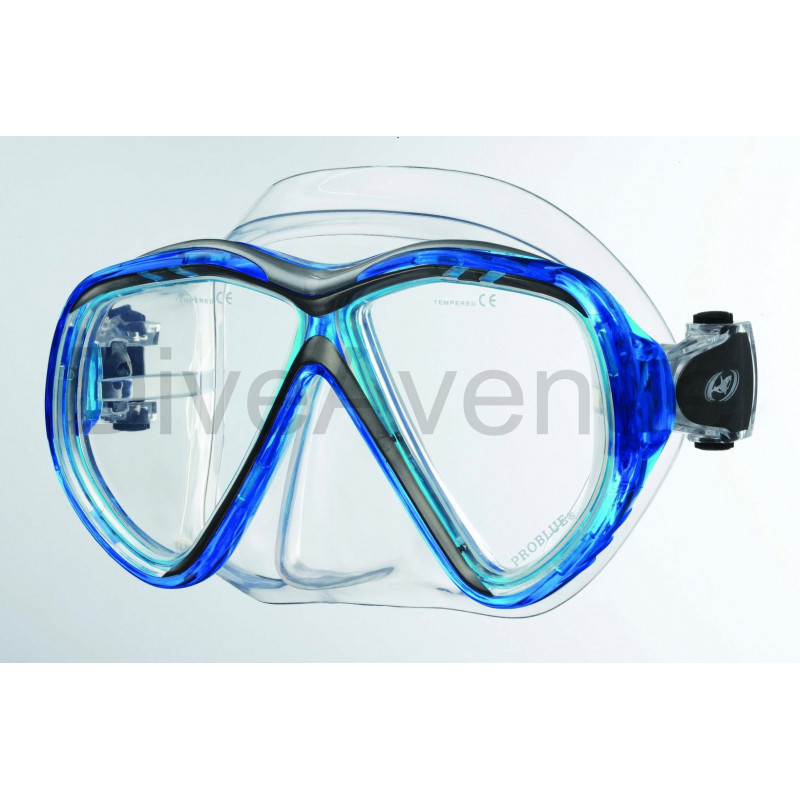 Two lens dive mask in silicon - 12x pieces pack
