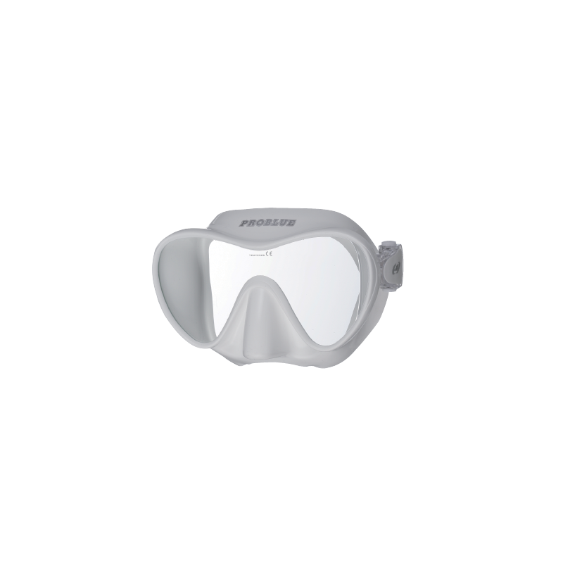 Masque de plongée frameless silicone blanc PROBLUE