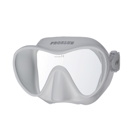 White frameless silicon scuba diving mask PROBLUE