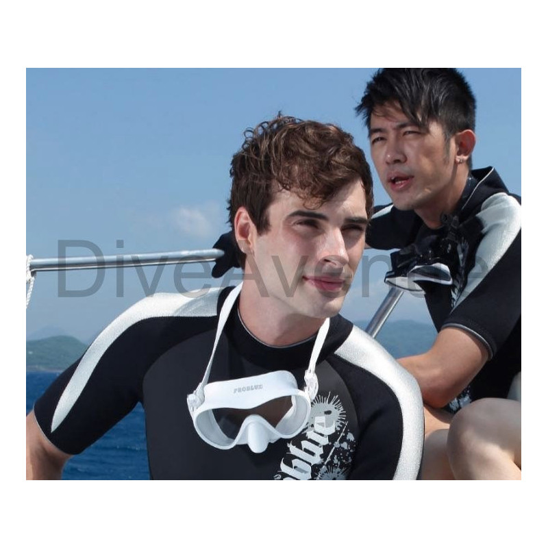 White frameless silicon scuba diving mask