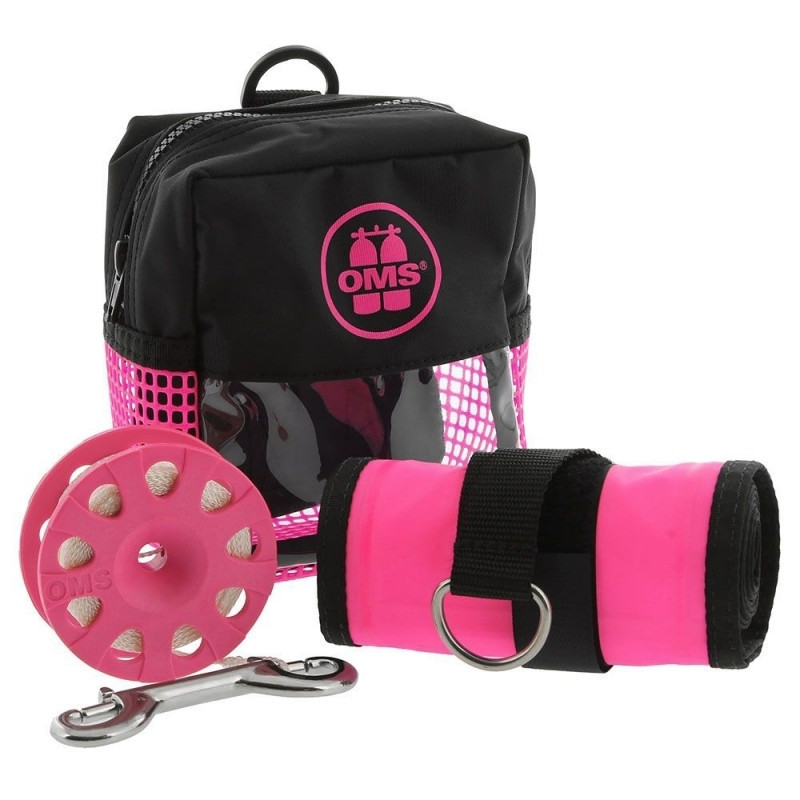 OMS safety pack pink : 1.8m marker+spool+pouch