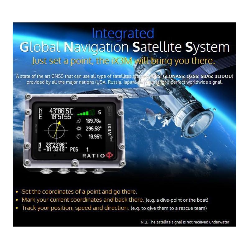 Ordinateur de plongée Nitrox Ratio IX3M [Gps]  EASY