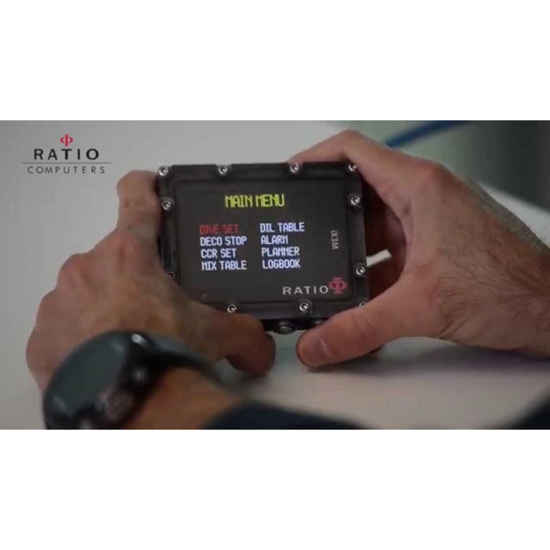Ordinateur de plongée Trimix Ratio IX3M[Gps] DEEP