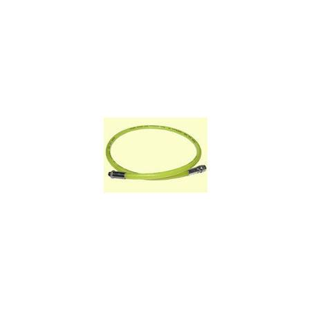 Rubber regulator hose 100cm yellow