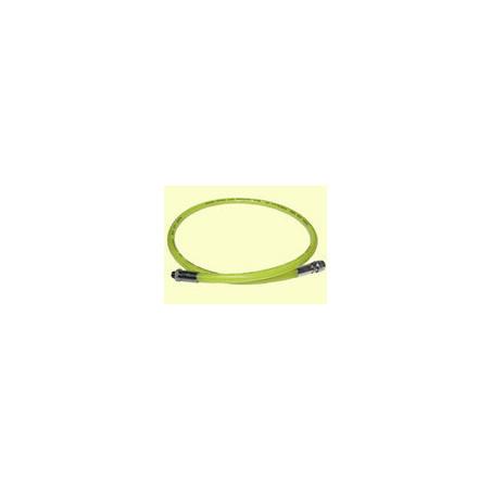 Rubber regulator hose 200cm yellow
