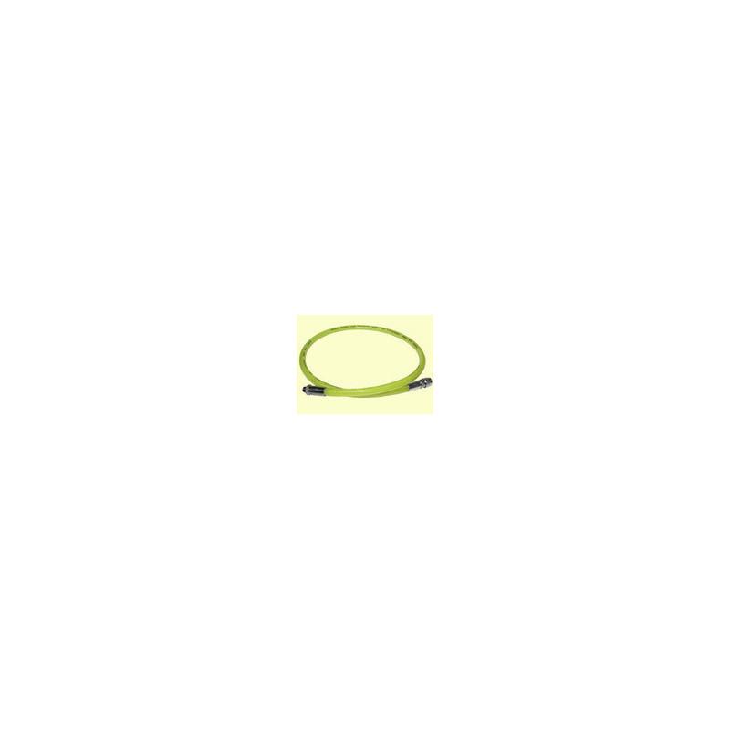Rubber regulator hose 210cm yellow