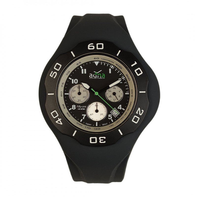 ADNA Watch CHRONO 51 Black 100m waterproof