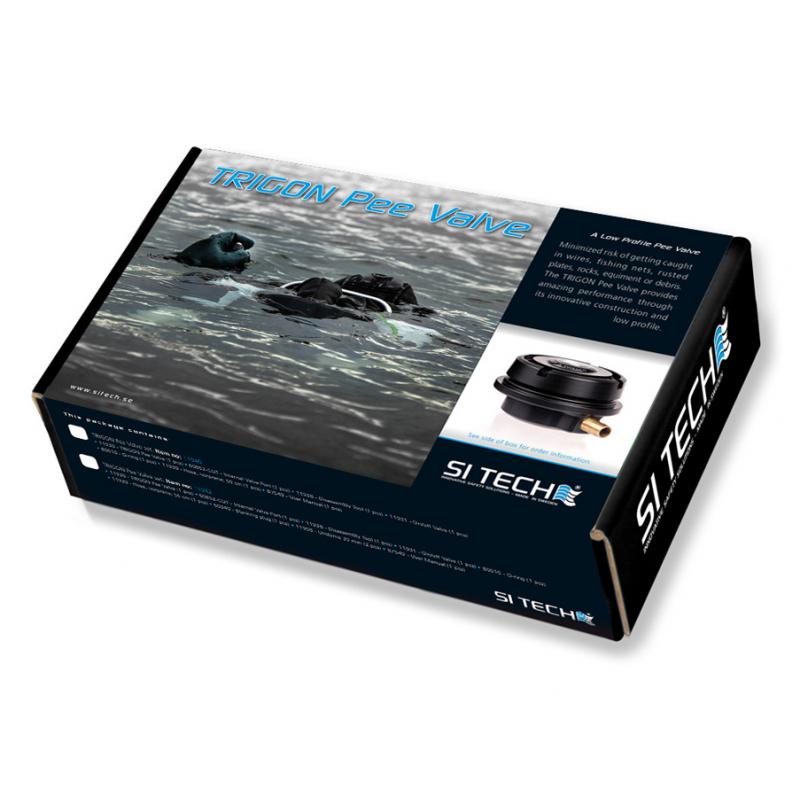 SI-TECH TRIGON Pee Valve for scuba dry suit + blank plug