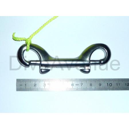 Bobine spool inox 30 mètres avec mousqueton double inox