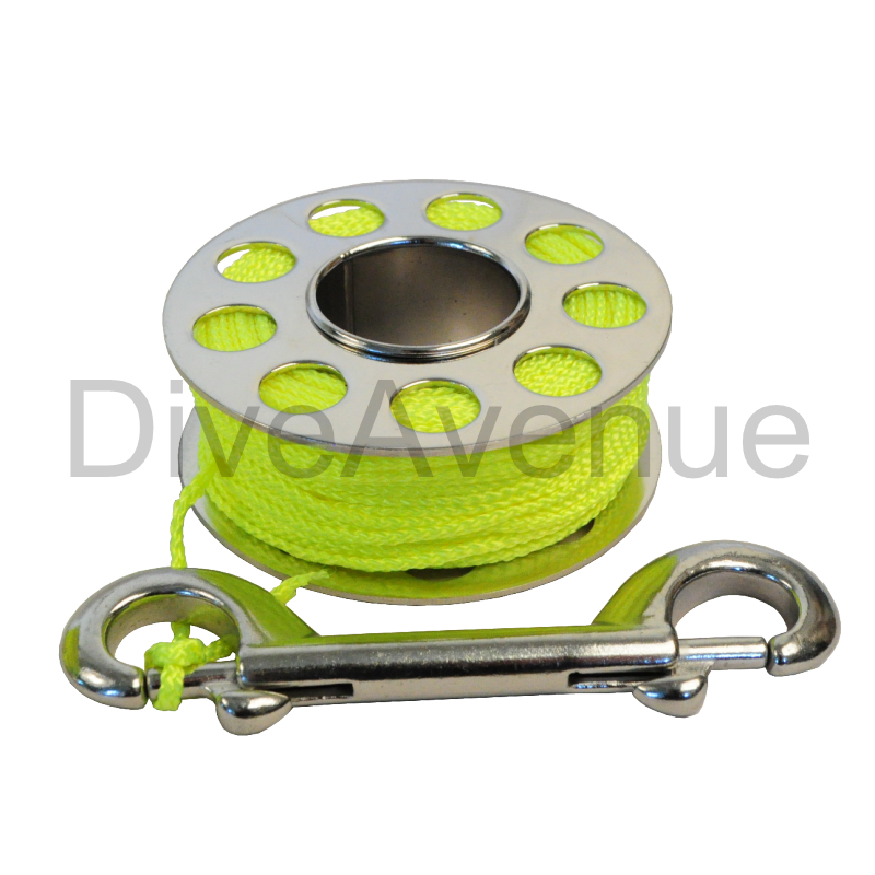 Stainless steel scuba finger reel 20 meter with SS hook