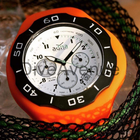 ADNA Watch CHRONO 51 Blanche 100m waterproof