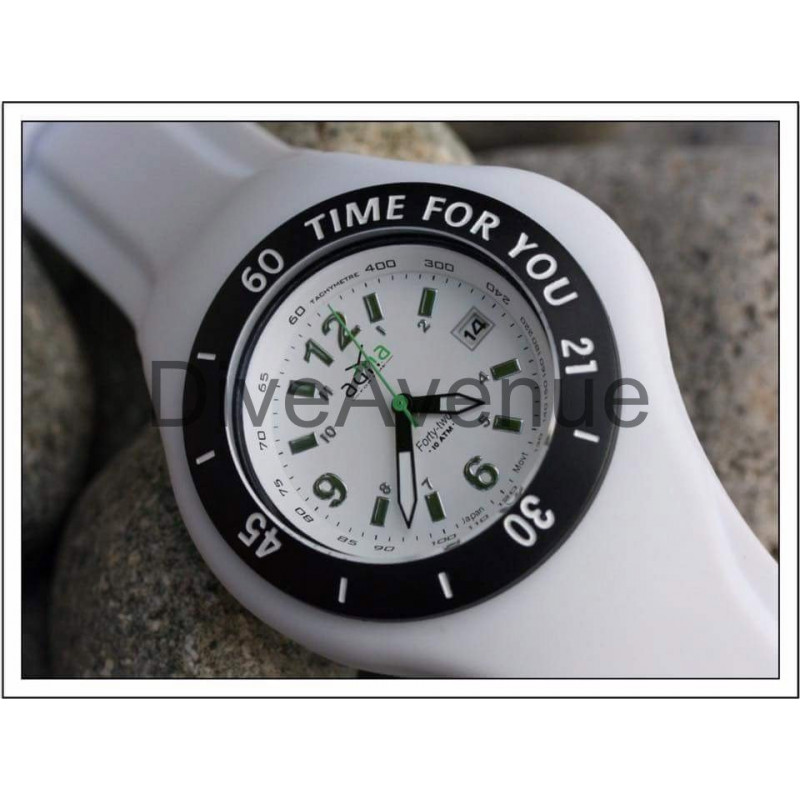 ADNA Watch M White Time for you 100m waterproof