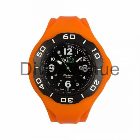 Bracelet silicone ORANGE pour montre A.D.N.A