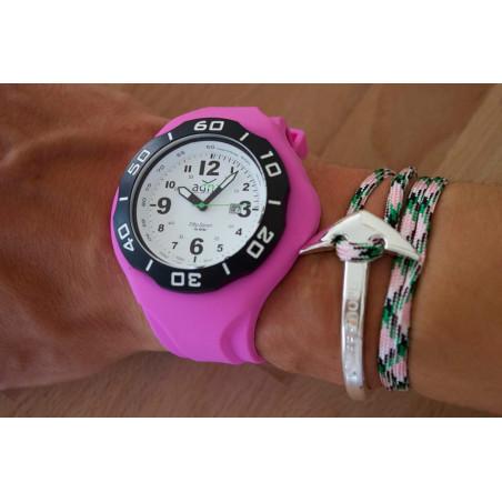 Bracelet silicone ROSE pour montre A.D.N.A