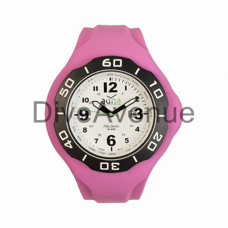 PINK silicon band A.D.N.A watch