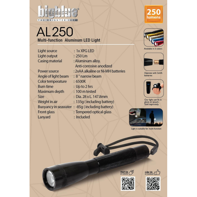 Multi-function LED light Bigblue AL250