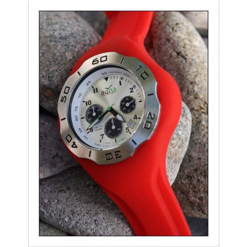 Bracelet silicone ROUGE pour montre A.D.N.A