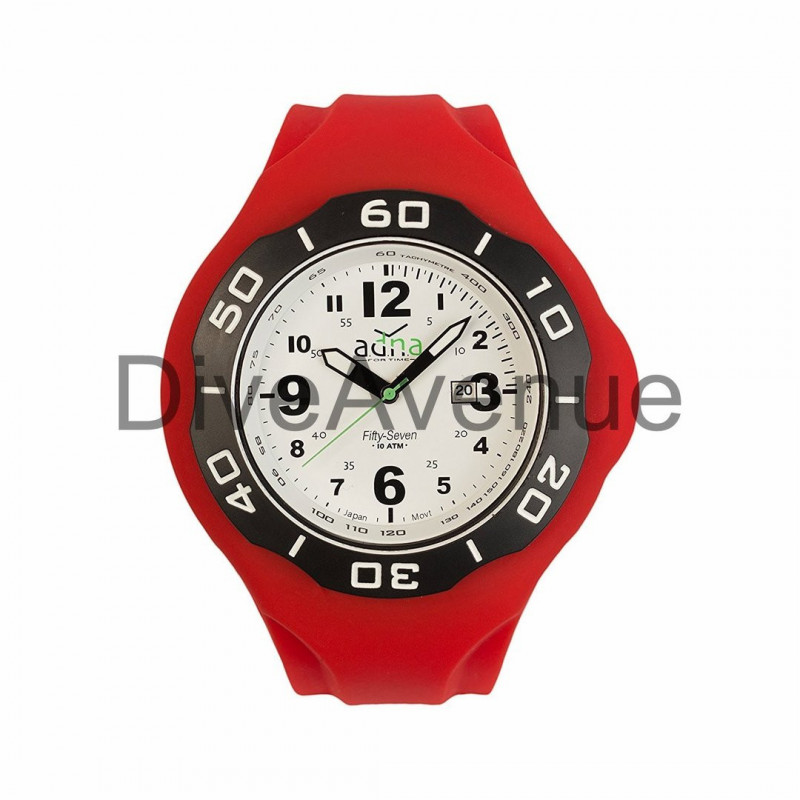 RED silicon band A.D.N.A watch