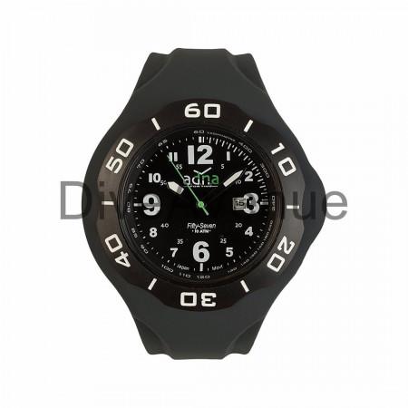 ADNA Watch XXL 57 Black 100m waterproof