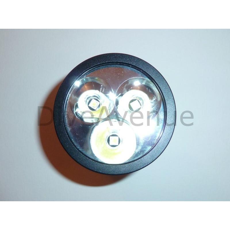 Phare BIGBLUE TL2600P PINK - 3 x LED 2600Lm 10°