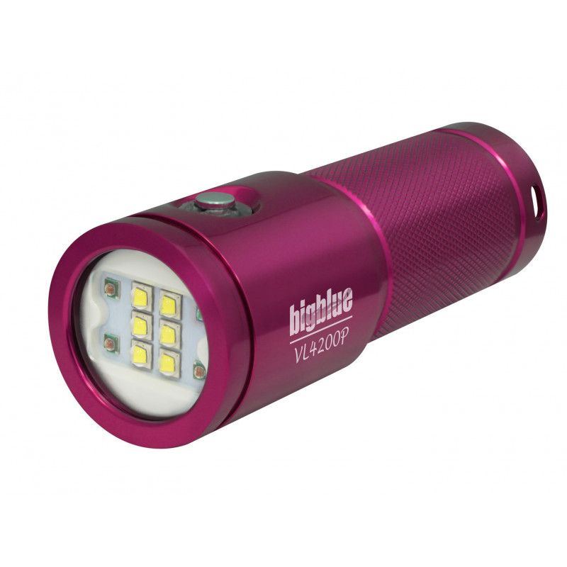 Phare video Bigblue VL4200P pink- 4200Lm à 120°
