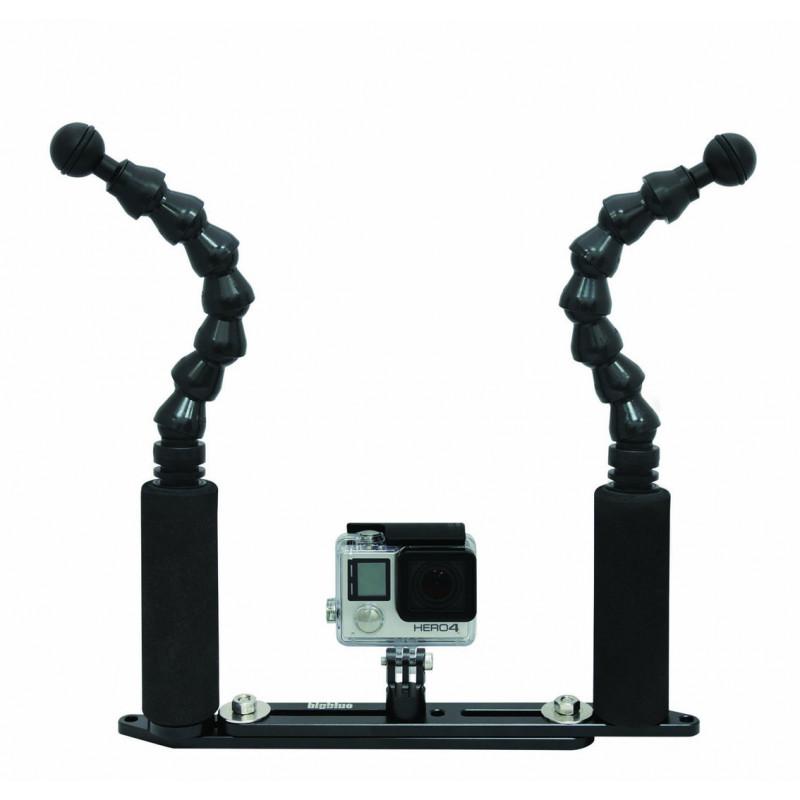Platine GoPro réglable bras flexibles Bigblue