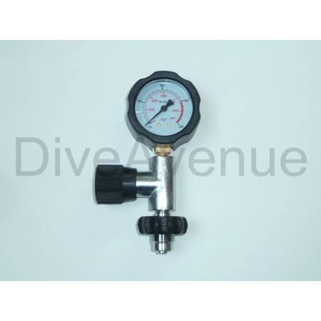 Manomètre de surface DIN 0-400bar Nitrox