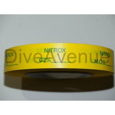 NITROX tank valve tape