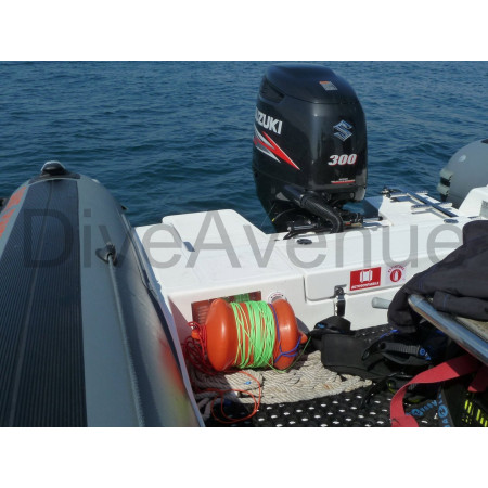 Surface buoy marking for diving and scuba hunting