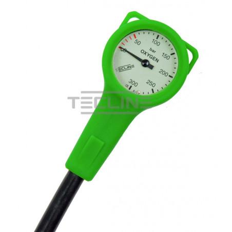 Manomètre O2 dia. 52mm flexible 15cm TECLINE