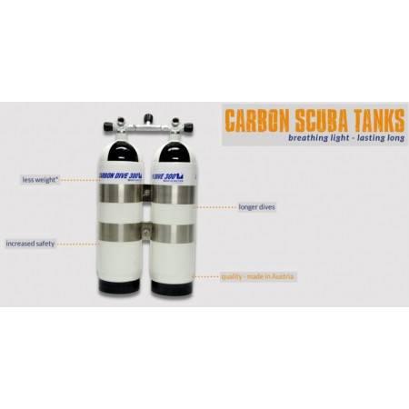 Bouteille carbone Carbondive 6.8litres 300Bar nu