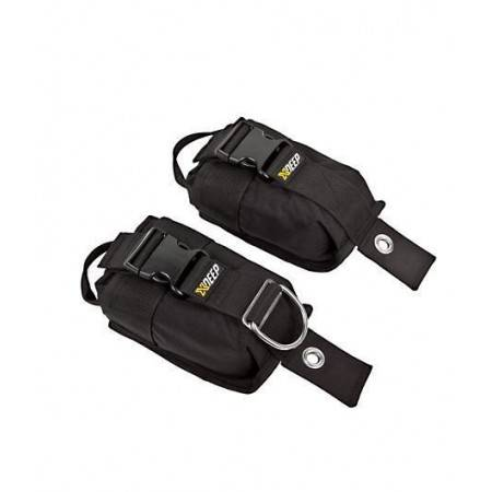 Pair of 2x3kg or 2x6kg weight pocket XDEEP