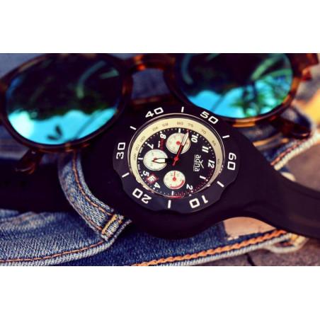 Bracelet silicone NOIR pour montre A.D.N.A